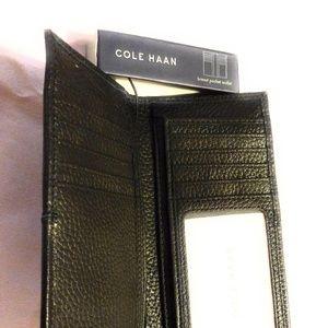 Cole Haan Breast Pocket Leather Wallet Black